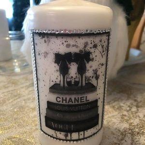 Chanel Handmade candles with rhinestones
